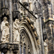 Постер, плакат: Statues at the gothic Cathedral of Aachen