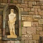 Sculpture in the cloister, Montserrat Monastery — Stock Photo