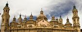 Tower of Basilica at Zaragoza, Spain — Photo