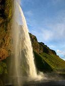 Seljalandsfoss waterfall in Iceland — Stock Photo