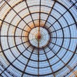 Glass dome of Galleriin Milan, Italy — Stock Photo #41644431