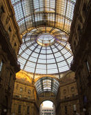 Glass dome of Galleria in Milan, Italy — Stock Photo