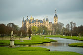 Schwerin Castle in northern germany — Stock Photo