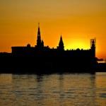Kronborg castle in sunset sky, Denmark — Stock Photo