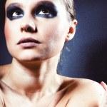 Lady with smoky eye makeup — Stock Photo
