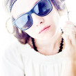 Fashionable girl in sunglasses — Stock Photo #28459893