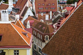 Town rooftops are maded from red plate — Stockfoto