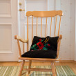 Warmished turned rocking chair at cozy room — Stock Photo