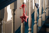 Stair handles with decorations in star form — Foto Stock