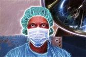Chirurgo sembra molto serio sui prossimo chirurgia — Foto Stock