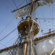 Foto Stock: Mast of old and beatiful sailing ship