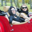 Stock Photo: Women with dark glasses on vacation trip
