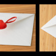 Hearts and letterbox — Stock Photo