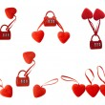 Hearts with lock — Stock Photo #19253443