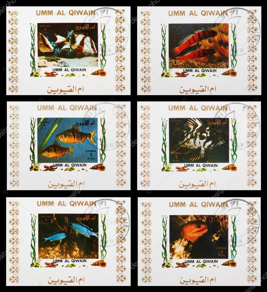Fish aquarium in umm al quwain - Umm Al Quwain Circa 1973 A Set Of Postage Stamps Printed In Umm Al Quwain Shows Aquarium Fish Series Circa 1973 Photo By Nikolos