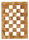 Chess board cut from an old paper — Stock Photo