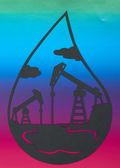 Utvinning av olja — Stockfoto