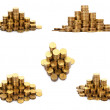 The stack of gold coins — Stock Photo