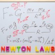 Newton laws — Stock Photo