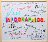 Infographics word, iş kavramı — Stok fotoğraf