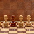 Wooden chess pieces — Foto de Stock
