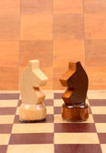Wooden chess piece — Stock Photo