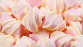 Pink and yellow Marshmallow — Stock Photo