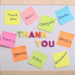 The word thank you — Stock Photo