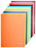 Stack of colored paper for creative work — Stock Photo
