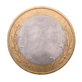 Blank gold and silver coin — Stock Photo