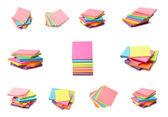 разноцветные наклейки — Стоковое фото