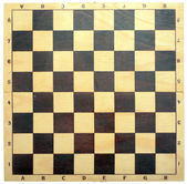 Wooden chessboard — Stock Photo