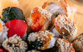 Sushi on the plate — Stockfoto