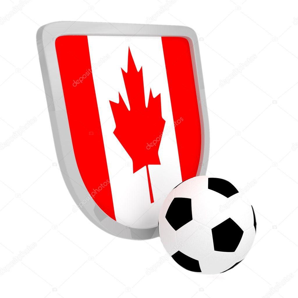 Canada Futbol Fútbol de Escudo de Canadá
