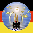 Stock Photo: Germany and Euro Crisis in Greece