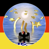 Germany and the Euro Crisis in Greece — Stock Photo