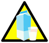 Beware of milk — Stock Photo