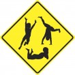 Stock Photo: Caution kids playing