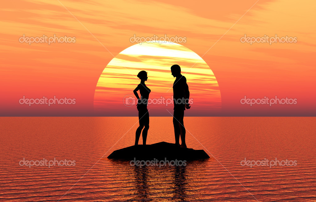 Young couple fallen in love  Stock Photo #13552651