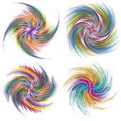Set of vector twirls — Stock Vector