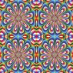 Seamless arabesque mosaic in art deco style — Stock Vector #13863753