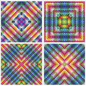 Set of antique art deco tiles — Stock Vector