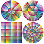 Color charts for calibration and printing business — Stock Vector