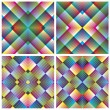 Art deco mosaic tiles - Stock Vector
