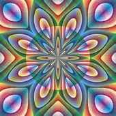 在艺术风格花卉设计 — 图库矢量图片