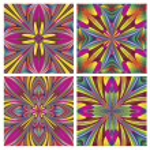 Set of seamless art deco tiles — Stock Vector
