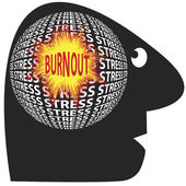 Burnout trough stress — Stock Vector