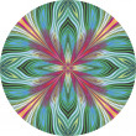 Round lotus vector pattern — Stock Vector