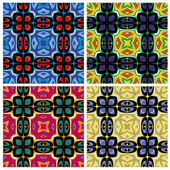 Set of artistic African textile designs — Stock Vector