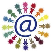 E-mail netwerk — Stockvector